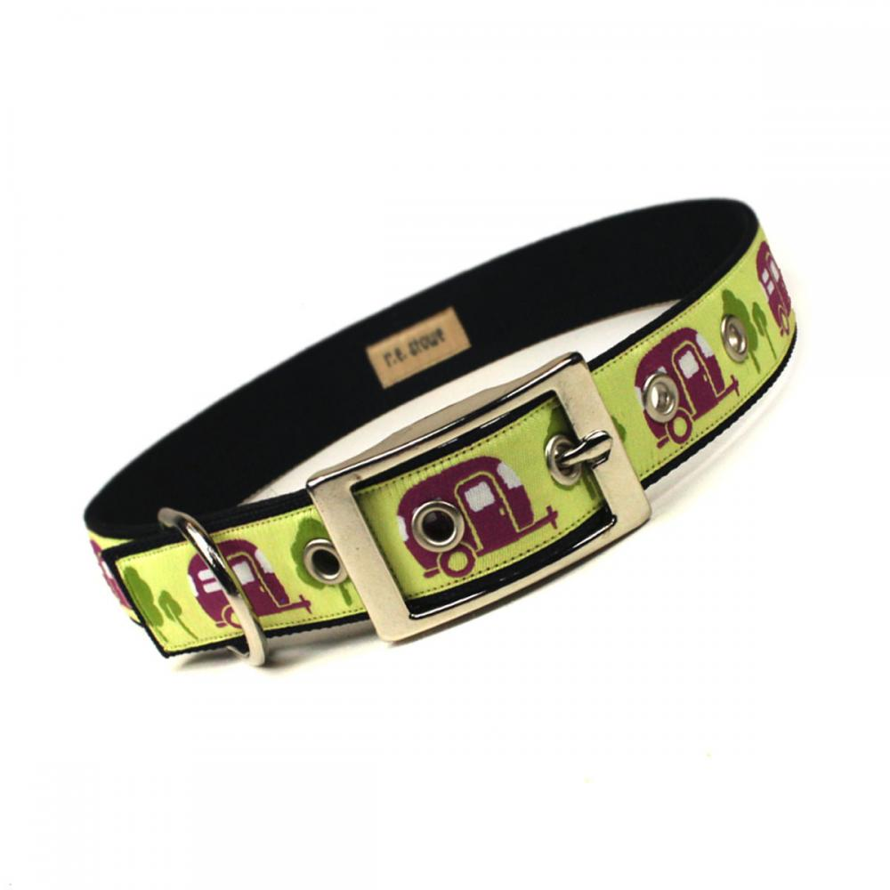 let's go RVing metal buckle dog collar (1 inch)